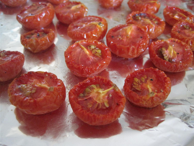 cherry tomatoes after roasting